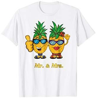 Funny Aloha Pineapple Couples Honeymoon T Shirt Matching Set