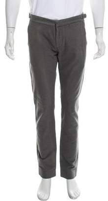 Michael Bastian Buckle-Accented Straight-Leg Pants