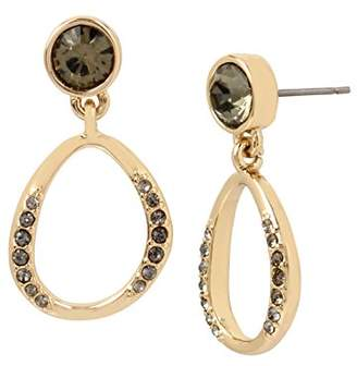 Kenneth Cole New York Scattered Pave Gold Tone and Accent Drop Earrings