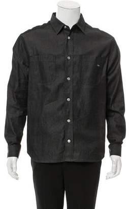 Christian Dior Denim Button-Up Shirt