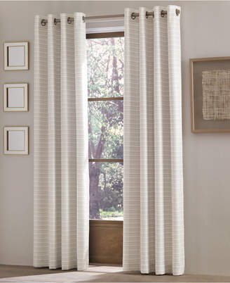 "J Queen New York Essex 50"" x 63"" Checker Stripe Grommet Curtain Panel"