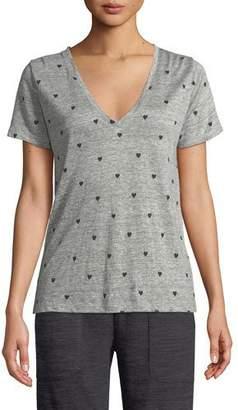 Rails Cara Heart-Print Linen Tee