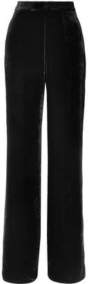 Etro Velvet Wide-leg Pants - Black