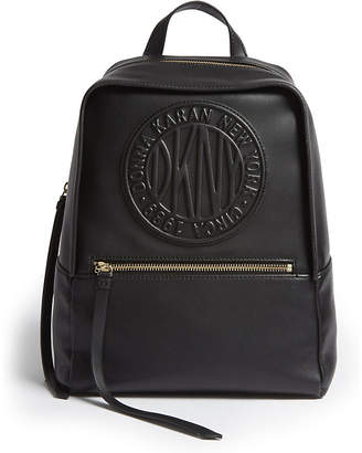 DKNY Tilly logo leather backpack