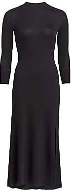 Theory Women's Ribbed Flounce Midi Dress