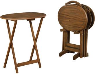 Linon Parker Oval Snack Tray Set