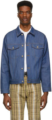 Naked & Famous Denim Denim Denim Blue Selvedge Denim Classic Fit Jacket