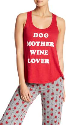 PJ Salvage Dog Mother Wine Love Pajama Tank Top
