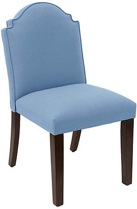One Kings Lane Elloree Side Chair - French Blue Linen