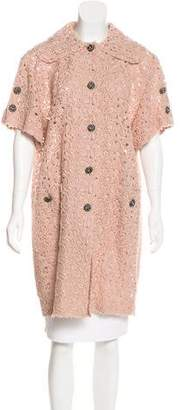 Dolce & Gabbana Lace Knee-Length Coat w/ Tags