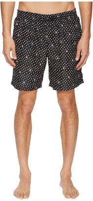 Dolce & Gabbana Mid Length Polka Dot Swimsuit Boxer w/ Bag Men's Swimwear