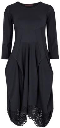 High Praise Navy Draped Jersey Dress