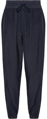 DKNY Shell-trimmed Twill Track Pants - Navy