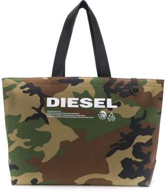 Diesel camouflage pattern tote bag