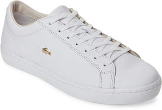 Lacoste White Straightset 316 Leather Low-Top Sneakers