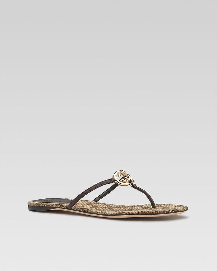 Gucci Britt Flat Thong Sandal