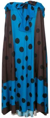 Ter Et Bantine colour block polka dot print dress