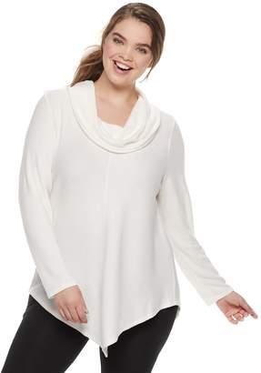 Iz Byer Juniors' Plus Size Cowlneck Sweater