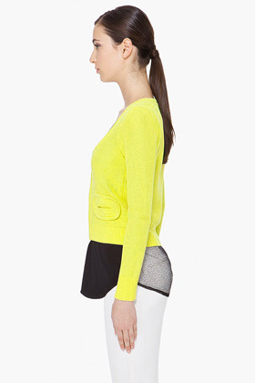Carven Sulfur Beenest Knit Cardigan