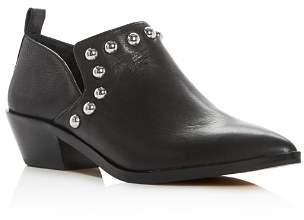 Rebecca Minkoff Women's Katen Studded Leather Low Heel Booties