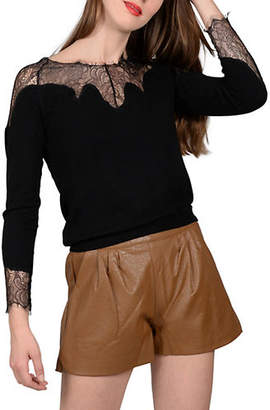 Molly Bracken Lace-Trimmed Sweater