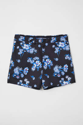 H&M Shorts with Fabric Belt - Blue