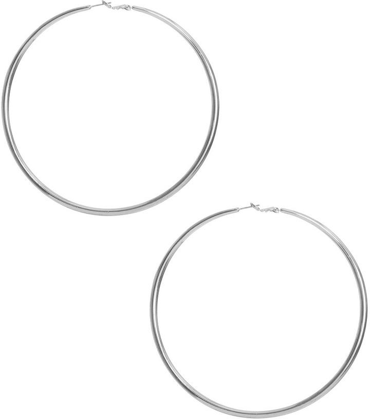 Large Metallic Hoop Earring
