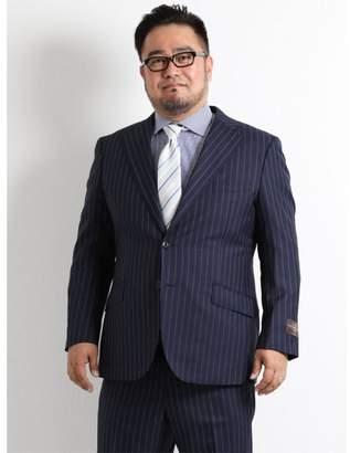 Alexander Julian TAKA-Q 【大きいサイズのメンズ服・グランバック】 CANONICO 紺ストライプ柄2ピーススーツ
