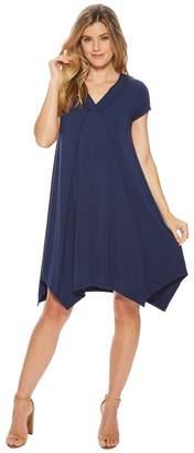 Mod-o-doc Cotton Modal Spandex Jersey Short Sleeve Pointed Hem T-Shirt Dress Women's Dress