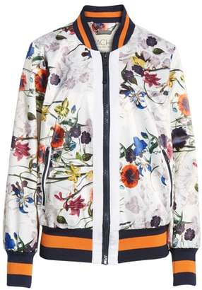 Rachel Roy Flower Print Bomber Jacket