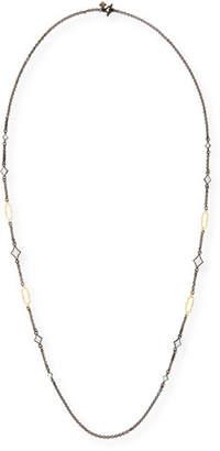 Armenta Old World Enamel Crivelli & 18k Oval Station Necklace