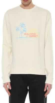 Saint Laurent Sweatshirt Waiting For Summer Embroidery