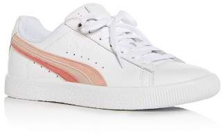 Puma Women's Clyde Leather Lace Up Sneakers