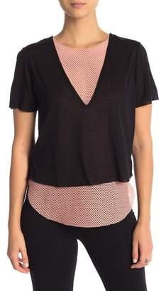 Koral Short Sleeve Double Layered T-Shirt