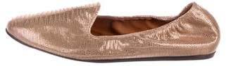 Lanvin Metallic Leather Loafers w/ Tags