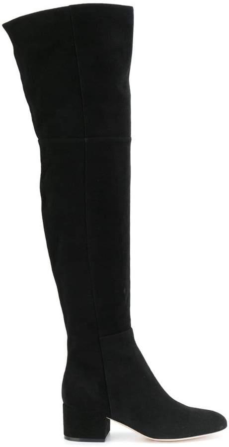 Sergio Rossi side zip knee boots