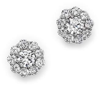 Bloomingdale's Certified Diamond Halo Stud Earrings in 14K White Gold, 1.0 ct. t.w.