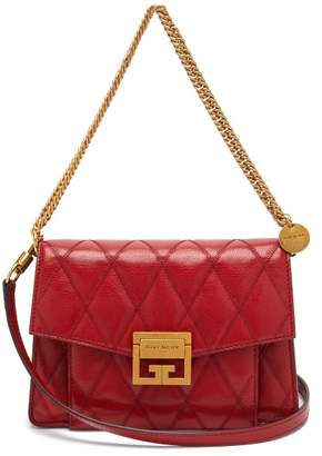 Givenchy Gv3 Small Quilted Leather Cross Body Bag - Womens - Red