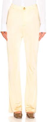 Acne Studios Prissa Trouser Pant in Vanilla Yellow | FWRD