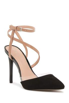 BCBGeneration Harlow Wrap-Around Ankle Strap Heeled Sandal