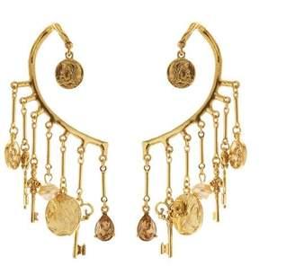 Oscar de la Renta Charm Cuff Earrings