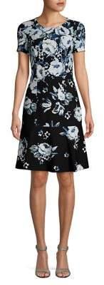 Karl Lagerfeld Paris Floral Bullet Dress