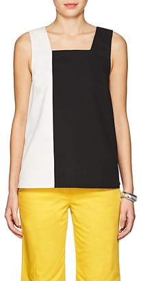 Lisa Perry Women's Colorblocked Cotton Twill Swing Top
