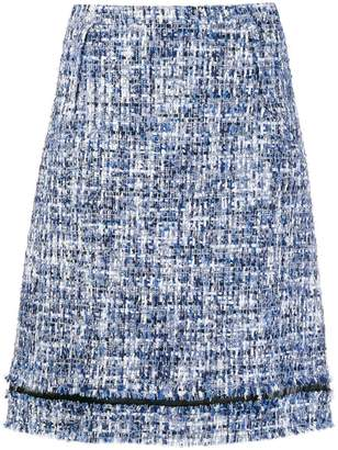 Giambattista Valli tweed A-line skirt