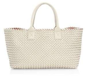 08567f52ffd6 Bottega Veneta Medium Cabat Leather Basket-Weave Tote