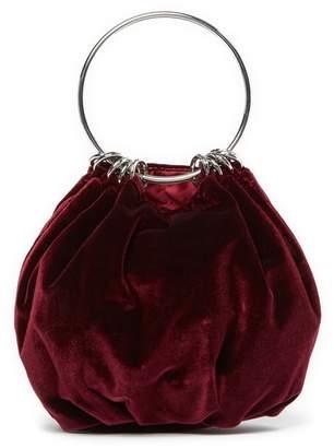 Jessica McClintock Velvet Ring Evening Bag