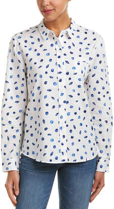 NYDJ Printed Linen-Blend Shirt