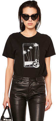 Saint Laurent Souvenir Flamingo Graphic Tee