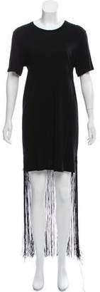 Raquel Allegra Fringe-Trimmed Jersey Dress