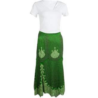 Etro Green Silk Skirts